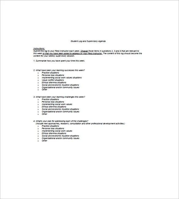 8+ Student Agenda Templates \u2013 Free Sample, Example, Format Do Free - sample student agenda