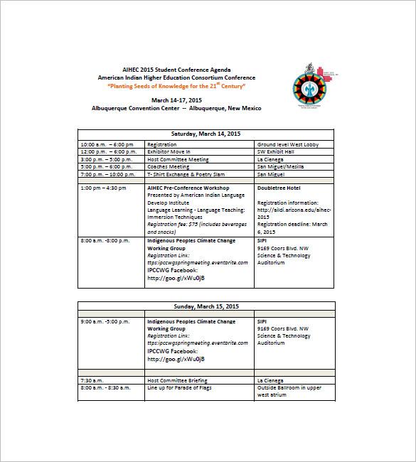 Student Agenda Template \u2013 8+ Free Word, Excel, PDF Format Download