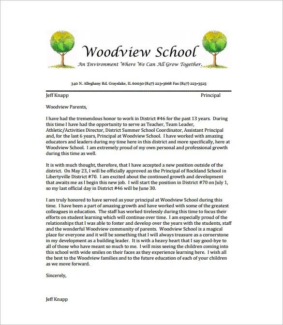 9+ Teacher Resignation Letter Template - Free Word, Excel, PDF