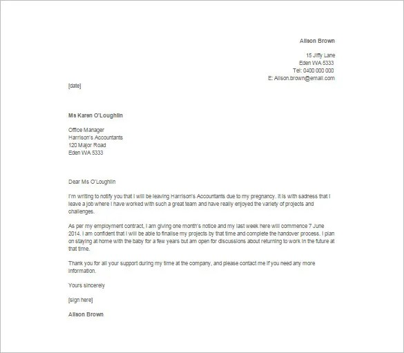 Immediate Resignation Letter Template - 7+ Free Word, Excel, PDF