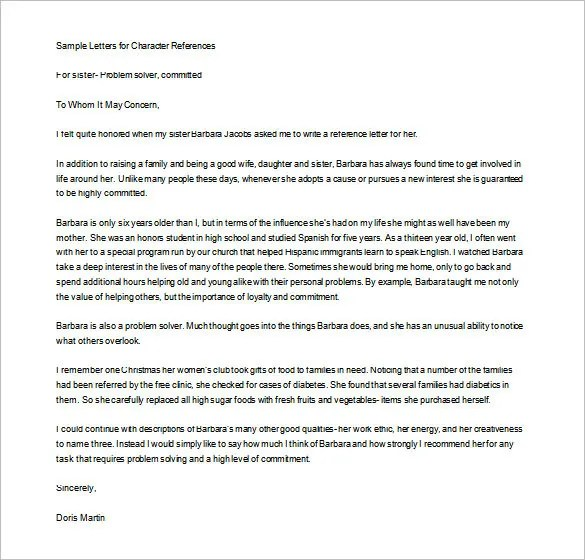 10+ Personal Letter of Recommendation \u2013 Free Sample, Example Format - Certificate Of Recommendation Sample