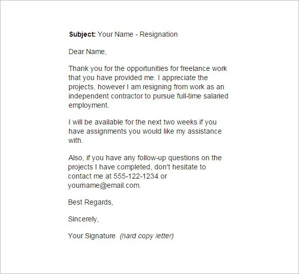 Contract Cancellation Letter Buzzle 13 Employee Resignation Letter Templates – Free Sample