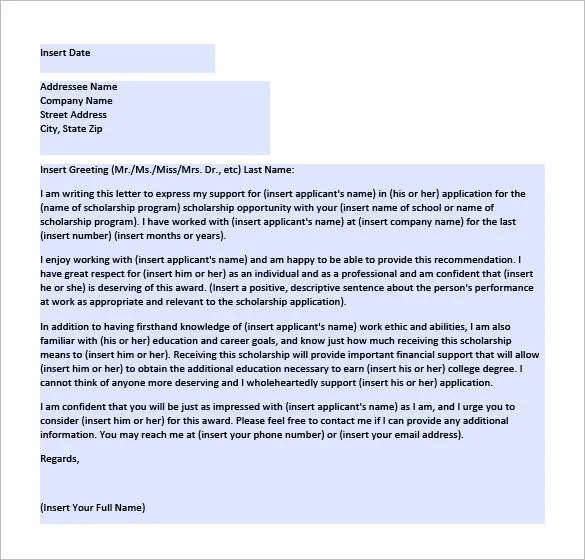 College Recommendation Letter \u2013 10+ Free Word, Excel, PDF Format