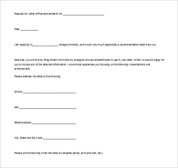 11+ College Recommendation Letter \u2013 Free Sample, Example Format