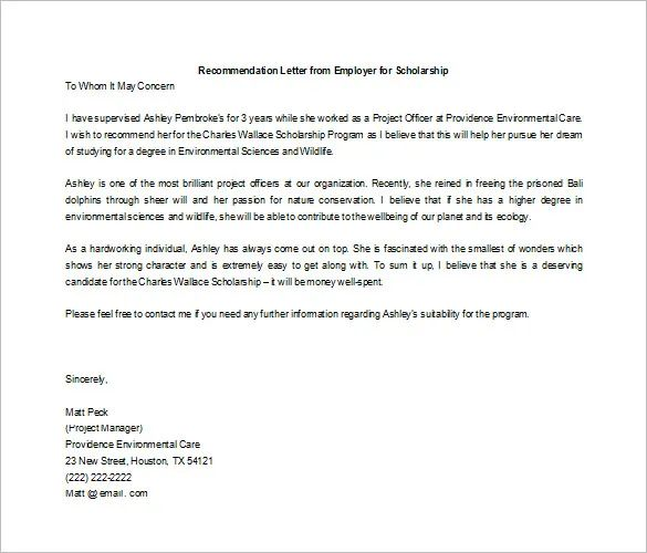 military recommendation letter samples