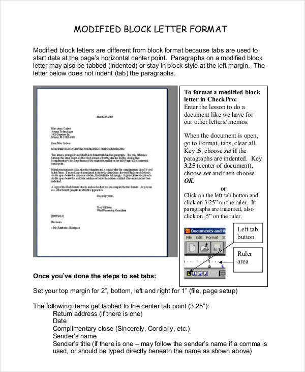 Block Letter Format Template - 8+ Free WOrd, PDF Documents Download