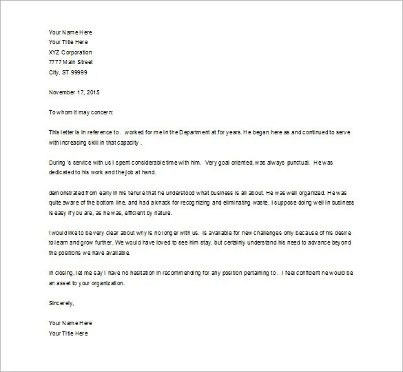 reference letter template for job - Boatjeremyeaton - job reference letter template