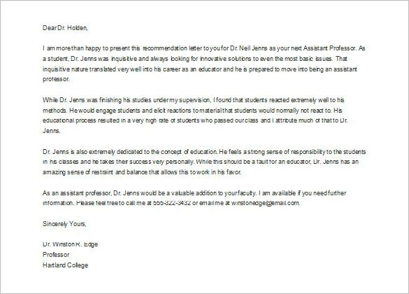 what should a professor write in a recommendation letter