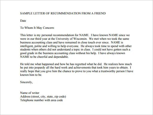 12+ College Recommendation Letters - DOC, PDF Free  Premium Templates