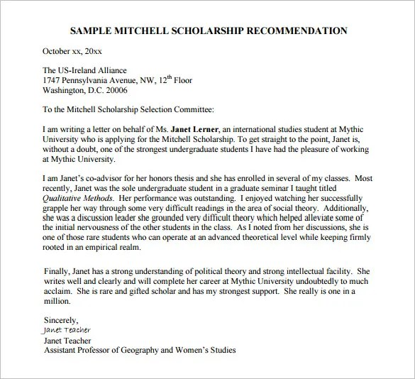 recommendation letter for scholarship from employer pdf - Eczasolinf - recommendation letter pdf