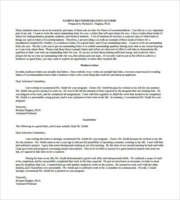 Sample Recommendation Letter Job Job Recommendation Letter 8 Free - free sample reference letter for employment