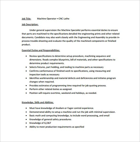 ... Machine Operator Resume In . Customer Service Skills Essay  Resume For Machine Operator
