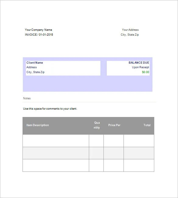 Business Invoice Template \u2013 6+ Free Sample, Example, Format Download