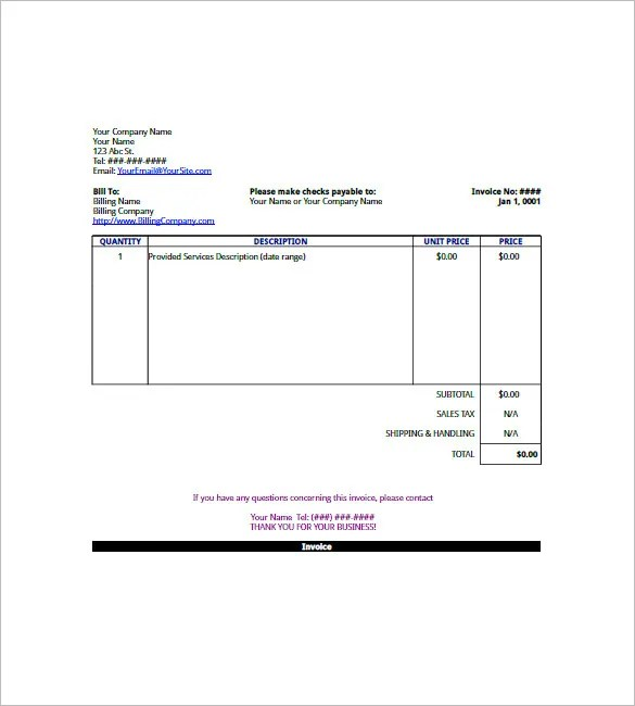 small business invoice templates - Ozilalmanoof