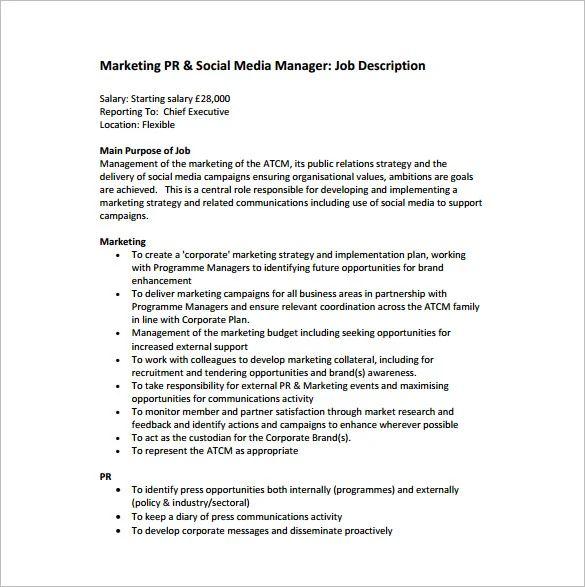 senior marketing coordinator job description