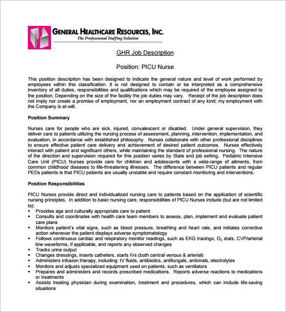 Pediatrician Job Description Template \u2013 7+ Free Word, PDF Format - Pediatrician Job Description