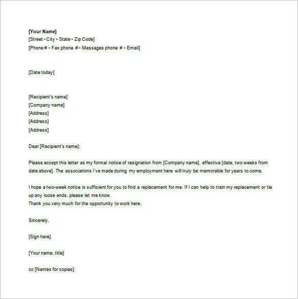 resignation letter example email - Dolapmagnetband - letter of resignation examples