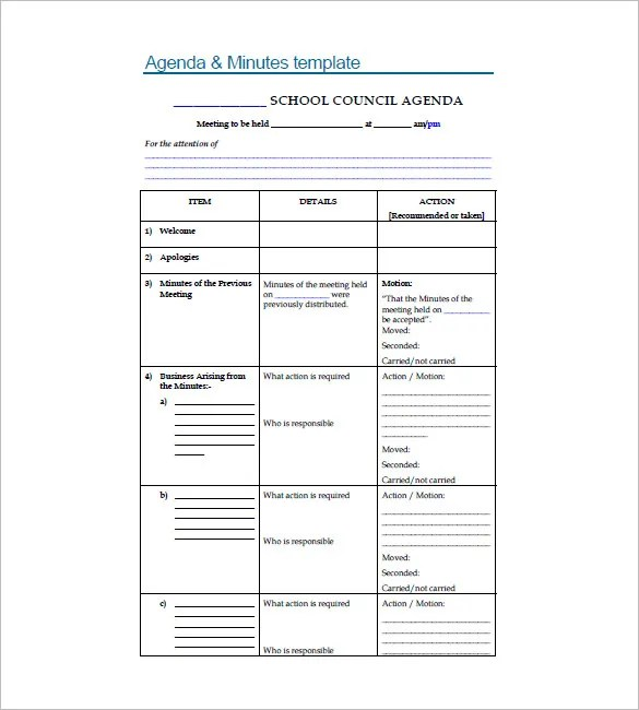 10+ School Agenda Templates - Free Sample, Example, Format Download