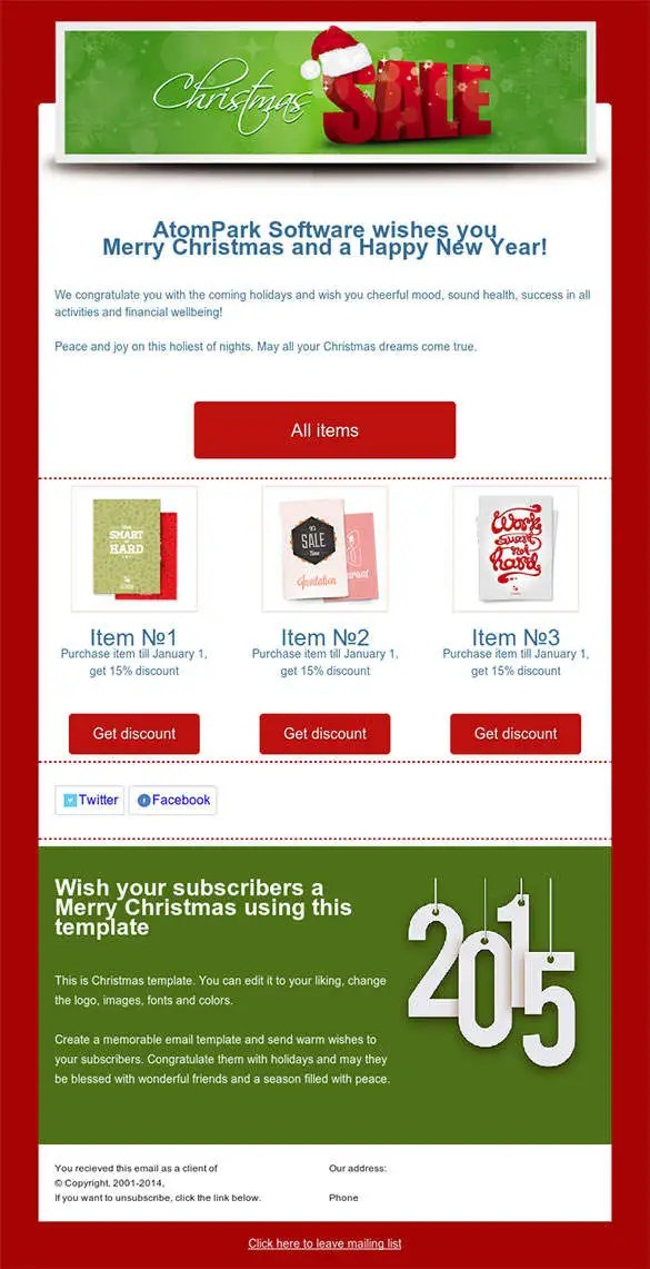 38+ Christmas Email Newsletter Templates - Free PSD, EPS, AI, HTML - merry email template