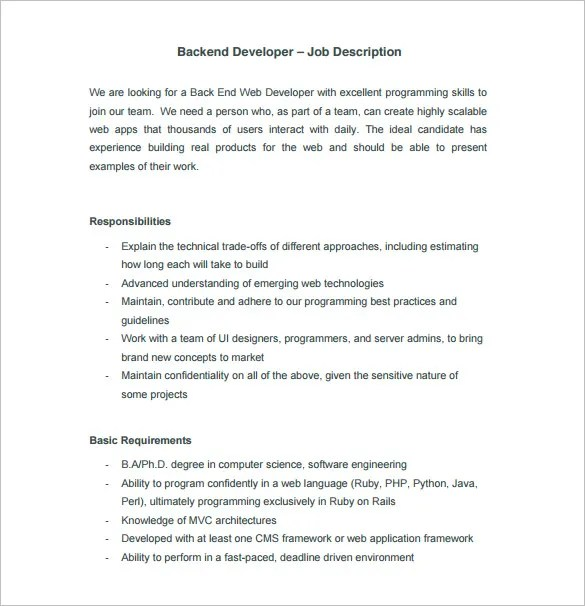 application developer roles and responsibilities - Khafre