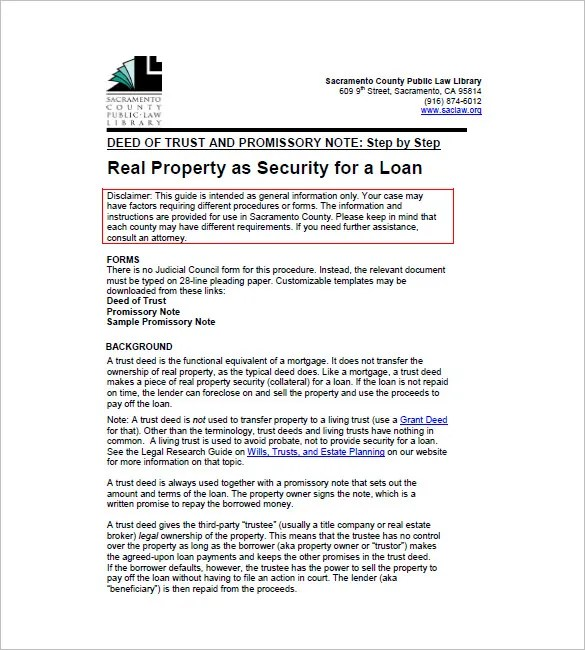Deed Of Trust Form Trust Deed Investments Trust Deed Listing - living trust form