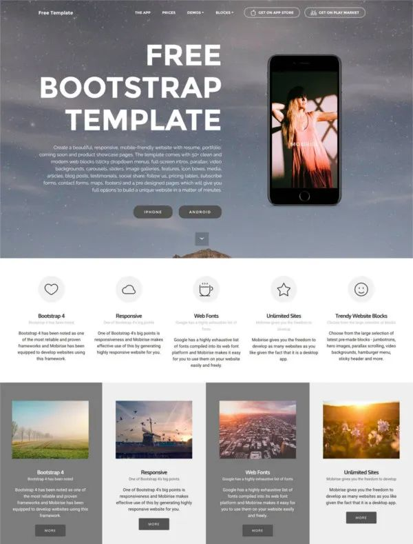 cv template html css bootstrap free