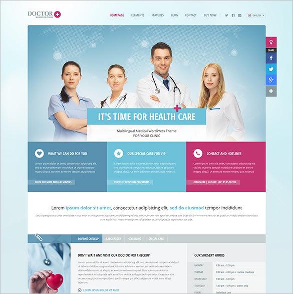 12+ Doctor WordPress Themes  Templates Free  Premium Templates