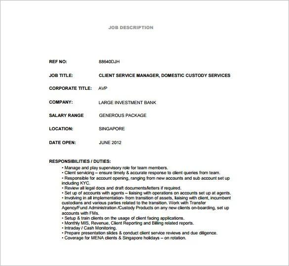 10+ Custodian Job Description Templates \u2013 Free Sample, Example - custodian job description