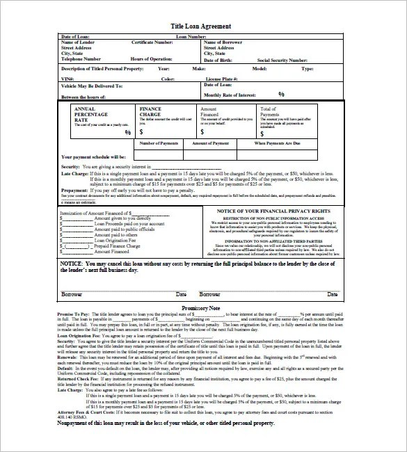10+ Loan Promissory Note Templates \u2013 Free Sample, Example, Format