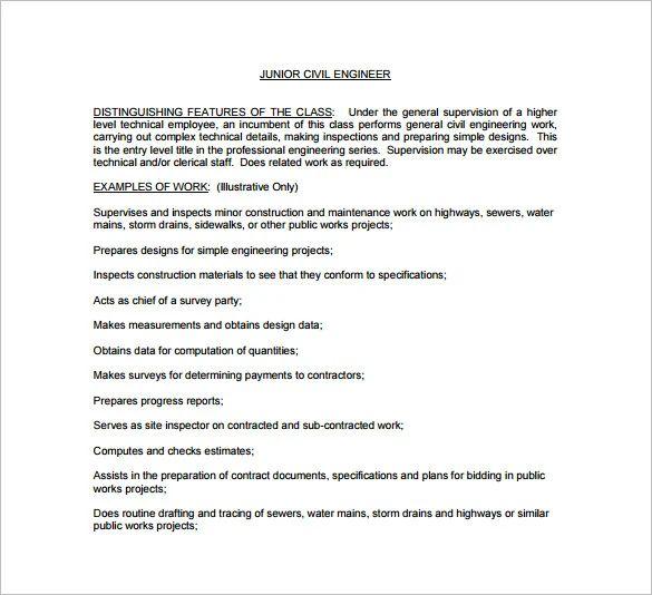 senior engineer job description