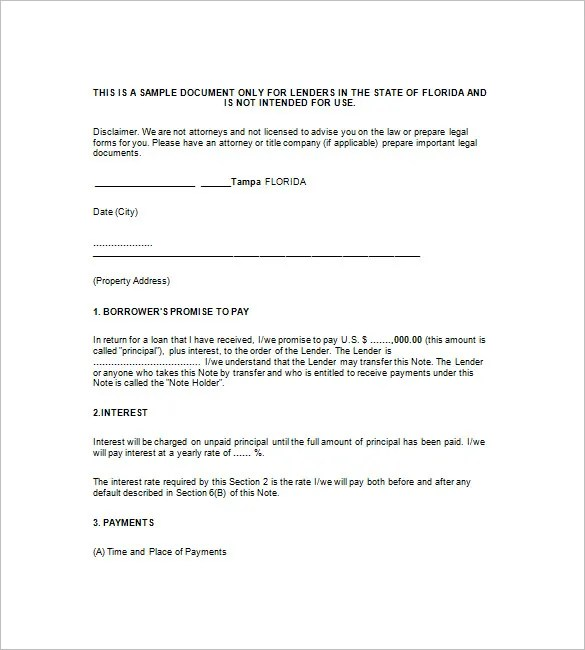 9+ Mortgage Promissory Note \u2013 Free Sample, Example, Format Download - legal promise to pay document