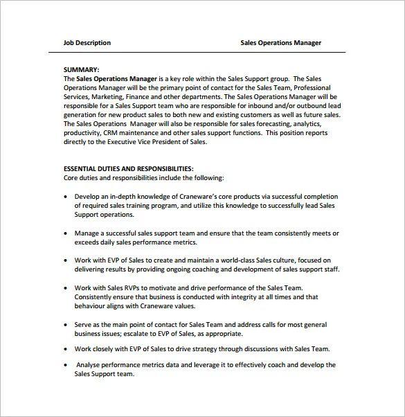 hotel operations manager job description