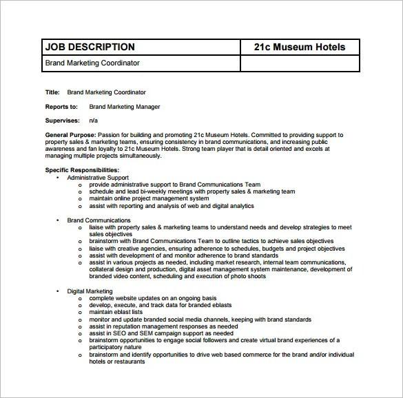 digital marketing job description node2003-cvresumepaasprovider - marketing coordinator job description