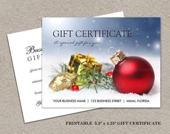 diy gift certificate template