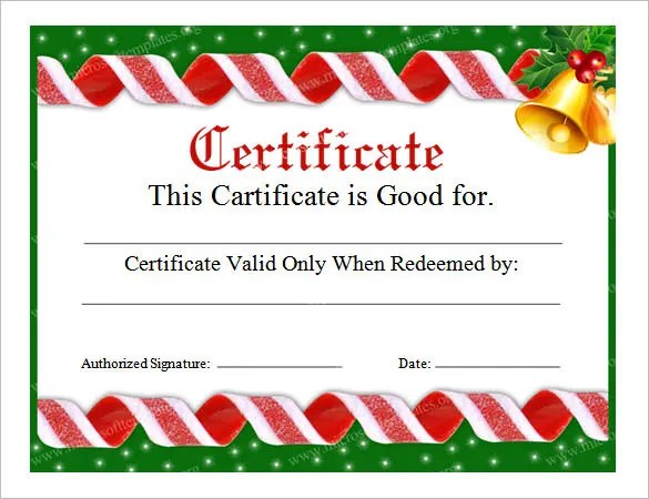 christmas gift certificate template word free - Militarybralicious - free award certificate templates word