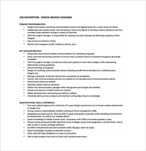 Job Description Web Developer – Web Designer Job Description