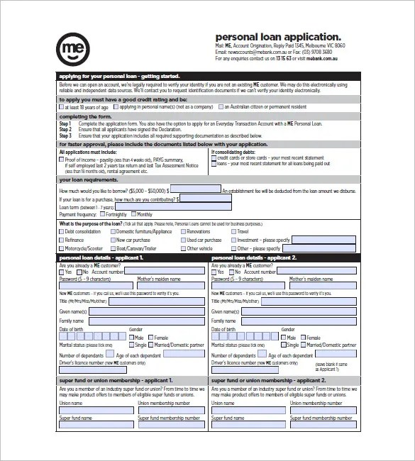 Note Template for Personal Loan u2013 6+ Free Word, Excel, PDF Format - loan templates