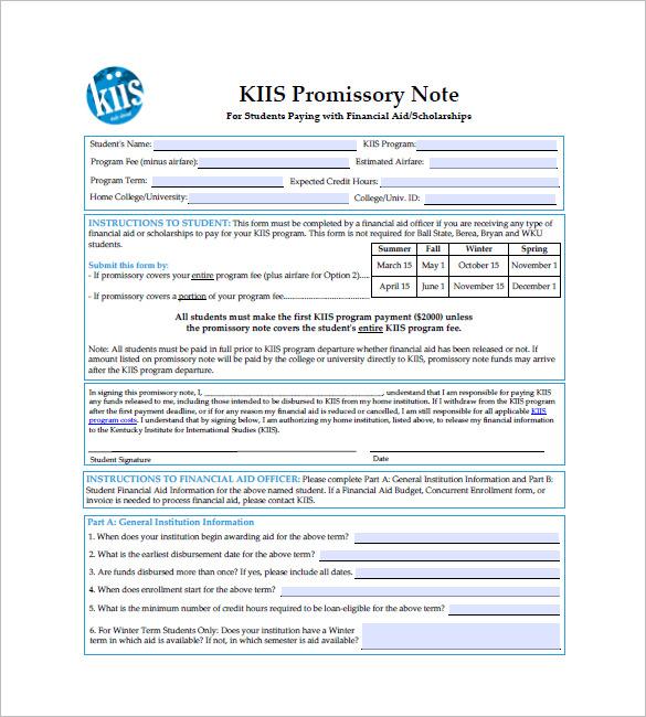 10+ International Promissory Note Templates \u2013 Free Sample, Example