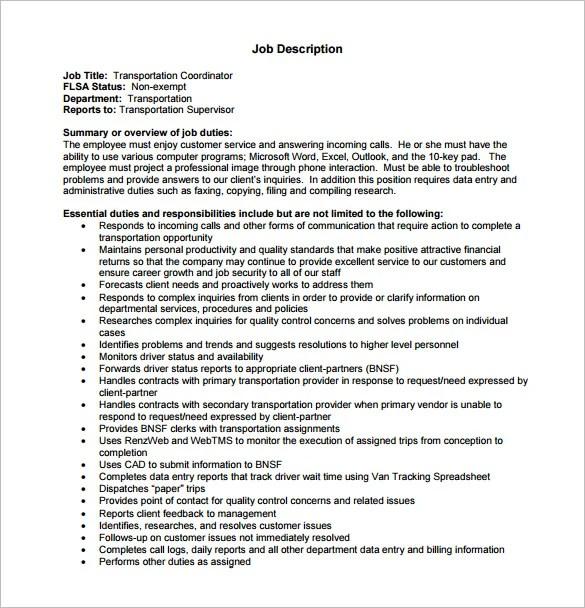 Customer Service Job Description Templates - 12+ Free Sample