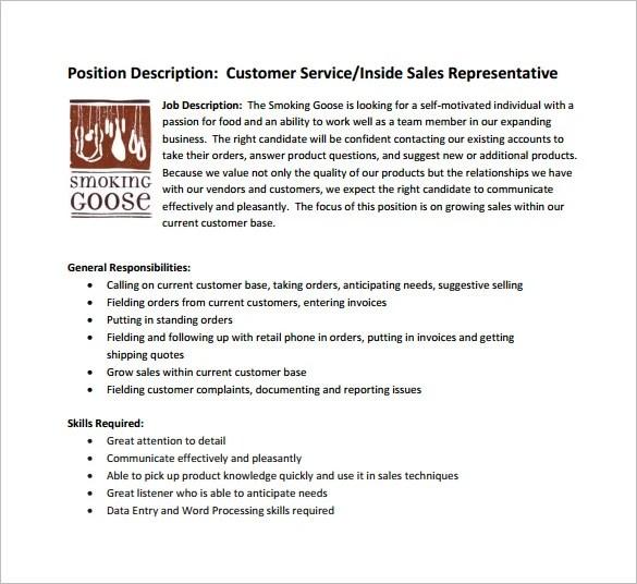 customer service job description retail - Ozilalmanoof