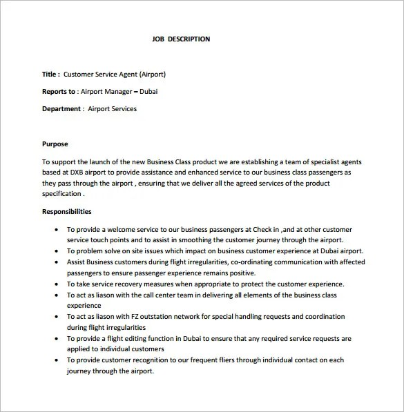 Job Description Customer Service Manager  Resume Tips For The
