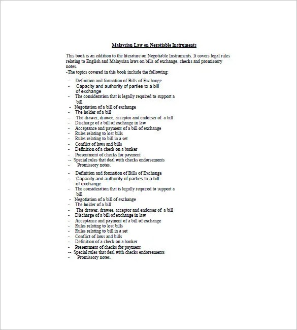 8+ Negotiable Promissory Note Templates \u2013 Free Sample, Example - promissory note sample