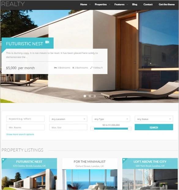 21+ Real Estate Blog Themes  Templates Free  Premium Templates