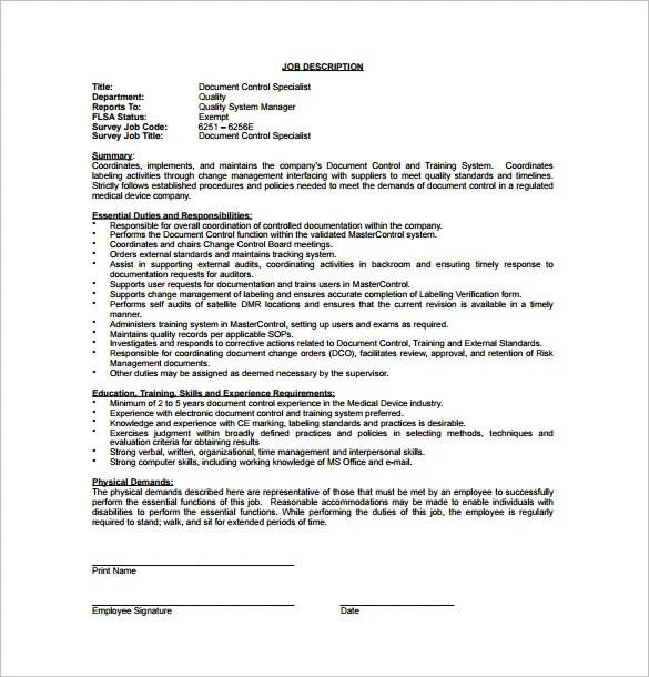 Controller Job Description Template - 10+ Free Word, PDF Format