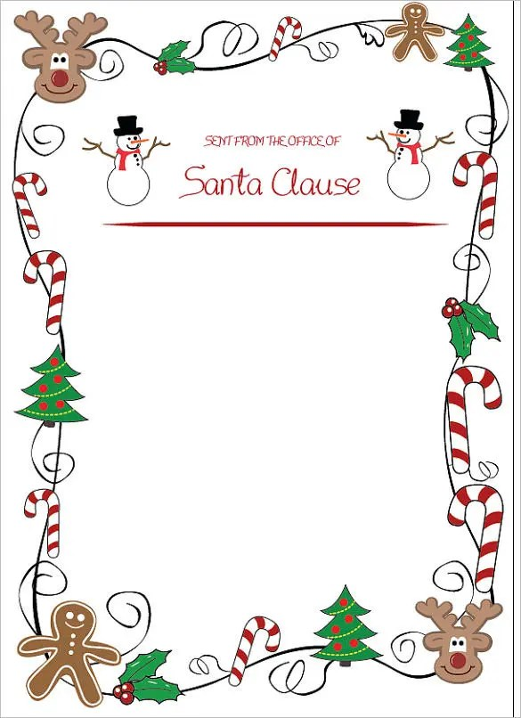 37+ Christmas Letter Templates - Free PSD, EPS, PDF Format Download
