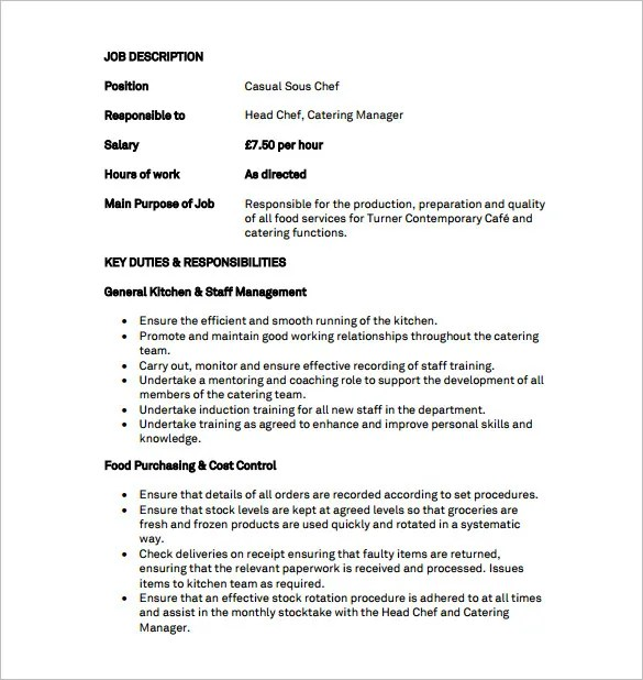 job description template samples - Ozilalmanoof
