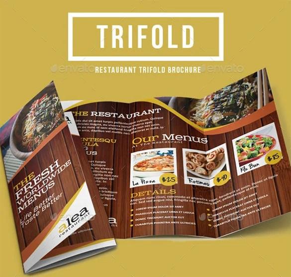 33+ Restaurant Brochure Templates - Free PSD, EPS, AI, InDesign