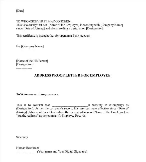 Notarized Letter Templates - 27+ Free Sample, Example Format - endorsement letter for employment