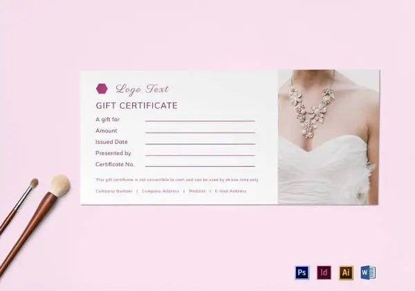 Blank Gift Certificate Template - 31+ Examples in PDF, Word Free