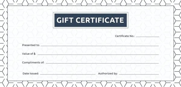 Blank Gift Certificate Template - 31+ Examples in PDF, Word Free - gift certifcate template